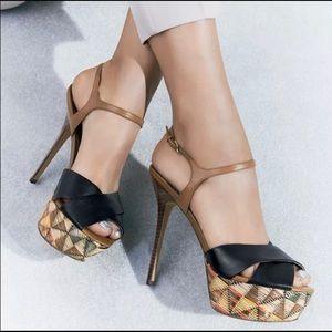 Sam Edelman Mason Leather Tribal Platform Heels